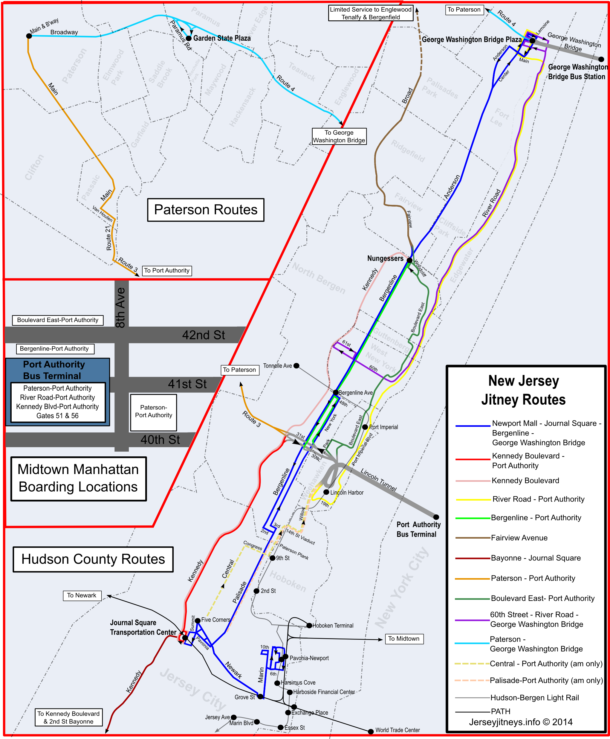 Rider Tips | Jitney Buses of New Jersey